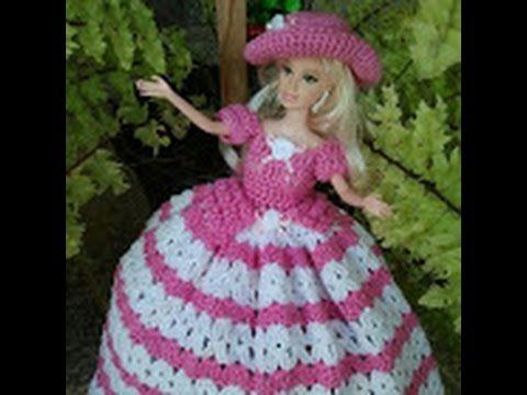 Vestido Para Bonecas Em Croche Youtube Com Imagens Roupas