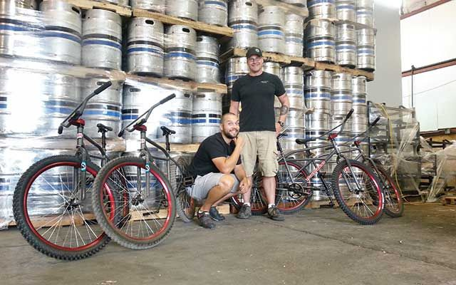 Ryan Left And Aaron Wirth The Events Marketing Manager For Ninkasi Brewing Company Out Of Eugene Oregon Right With Transition Bikes T