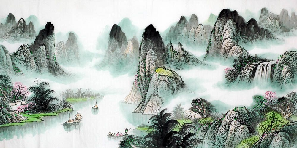Chinese Mountain And Water Painting Chinese Landscape Painting Chinese Landscape Landscape Paintings