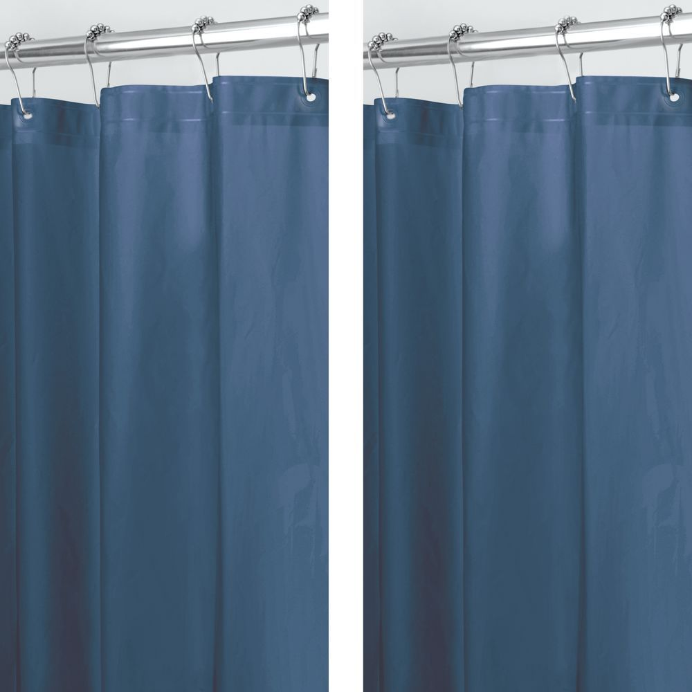 Long Peva Shower Curtain Liner For Bath Pack Of In Navy 72 X