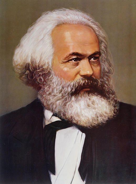 Portrait Of Karl Marx By Unknown Karl Marx Portrait Karl