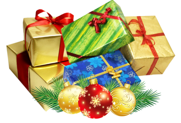 Christmas present group transparent background Christmas