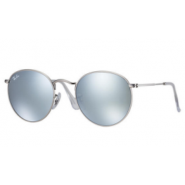 5284fc1262c4 Ray Ban RB3447 Round Flash Lenses sunglasses – Silver Frame / Silver Flash  Lens