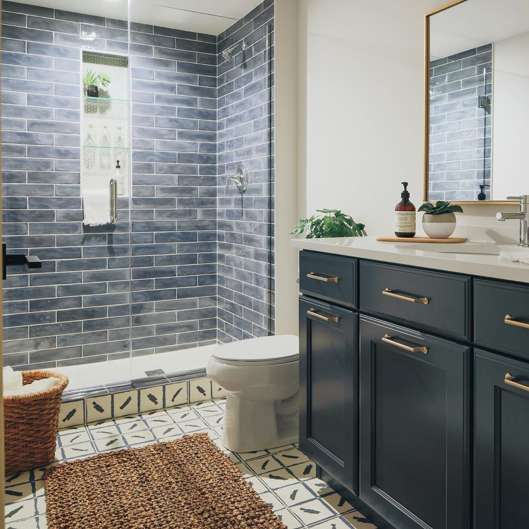 Cool And Unexpected Tile Combinations For The Kitchen And Bath Bathroom Tile Designs Tile Shower Niche Kitchen Bath