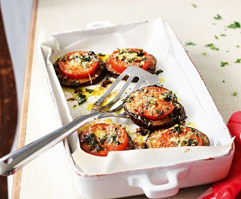 Überbackene auberginen-tomaten-scheiben - rezept - saisonküche ... - Saison Küche