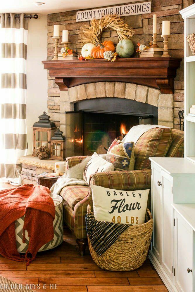 Autumn Living Room Decorating: Cozy Autumn Blessings