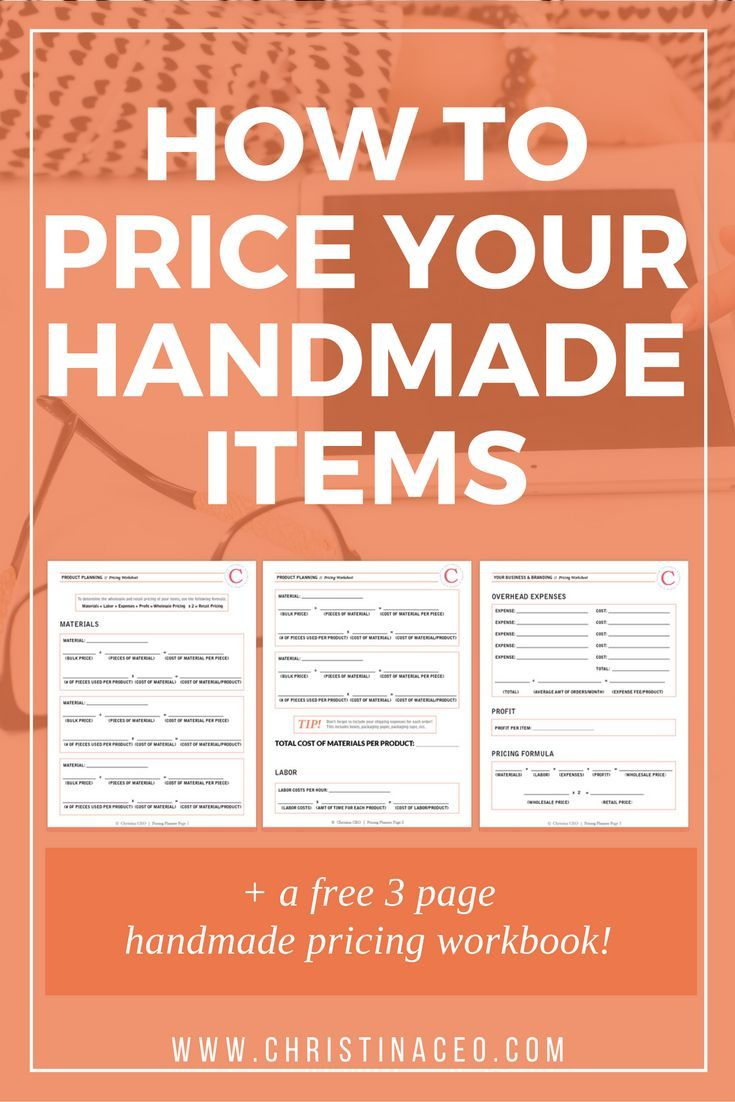 how to price your handmade items handmade items free