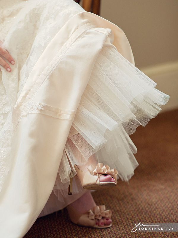 Ladies, here is a post for us.  Shoes, shoes and more shoes!  Wedding shoes from what I hear are one of the hardest items to choose for your big day.  I know for me it was a difficult decision but when I found the ones, I knew they were perfect!  Our brides as you will see have a variety of taste in what was their perfect shoe.  Scroll through & enjoy all the gorgeous shoes!