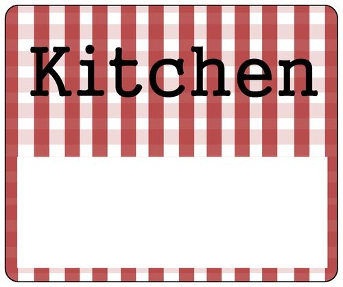 Kitchen Organizing Labels   Write On These Printable Labels With A   Packing  Label Template  Packing Label Template
