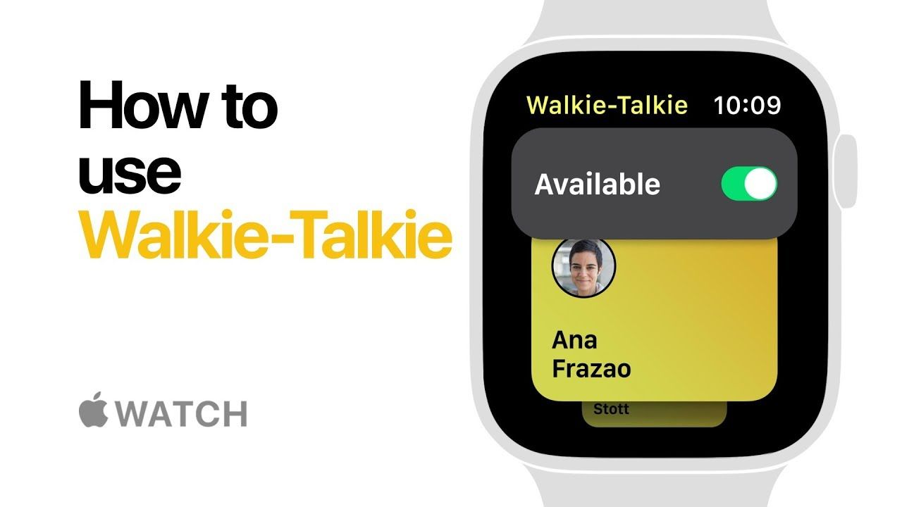 Apple Watch Series 4 How to use WalkieTalkie Apple With