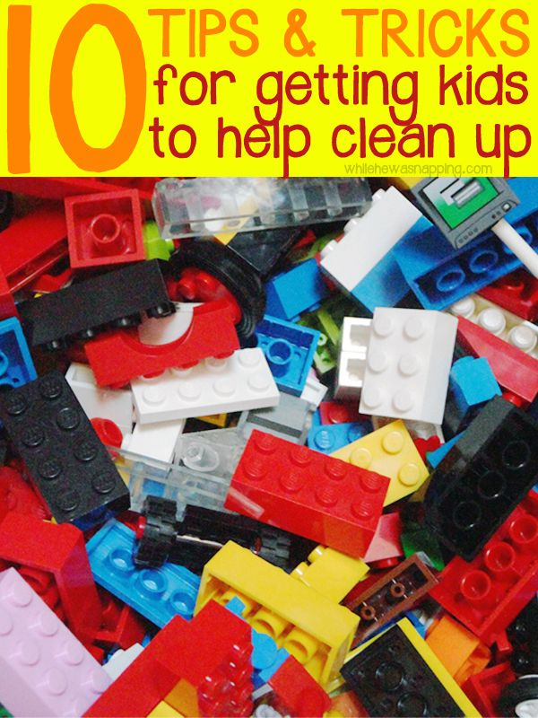 Getting Kids to Help Clean Up.  10 tricks that encourage kids to help with chores.  I love #6!