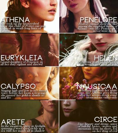 goddesses in the odyssey