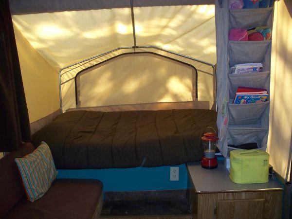 Nice Tent Trailer Storage Idea