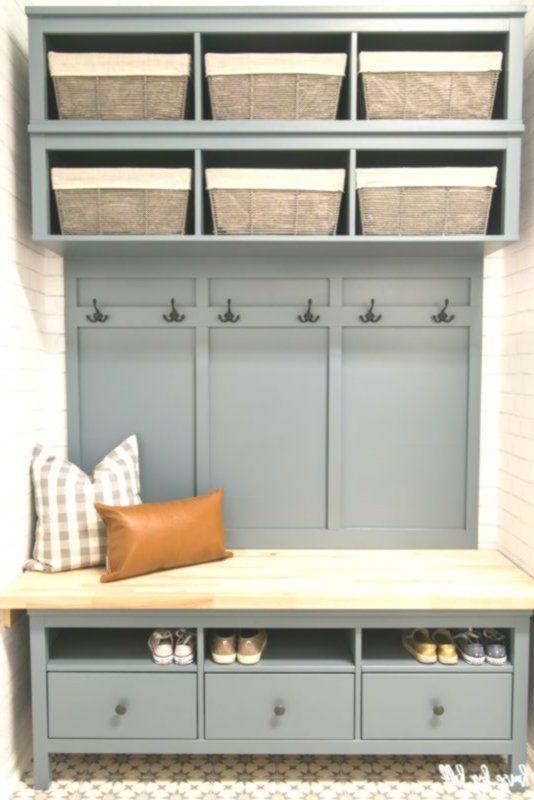 Ikea Hemnes Hack Diy Mudroom Bench And Storage Muebles Para Vestibulo Muebles De Entrada Recibidores Ikea