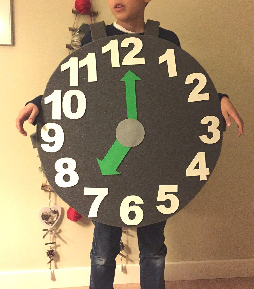 Reloj Hecho De Carton Para Ninos