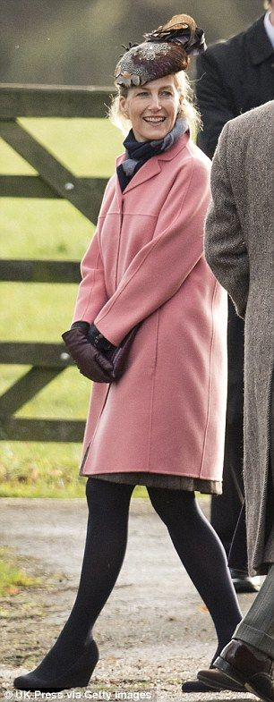 dailymail:  British Royal Family attends St Mary Magdalene Church at Sandringham, December 28, 2014-Countess of Wessex