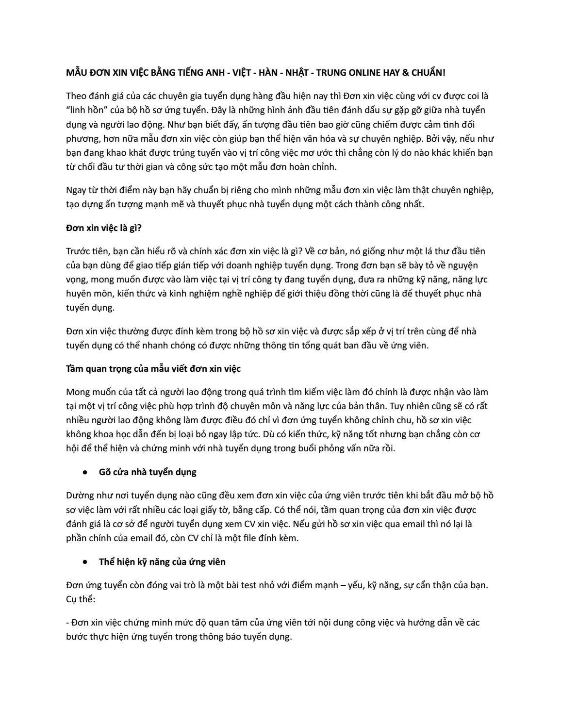 bài essay xin h c b ng