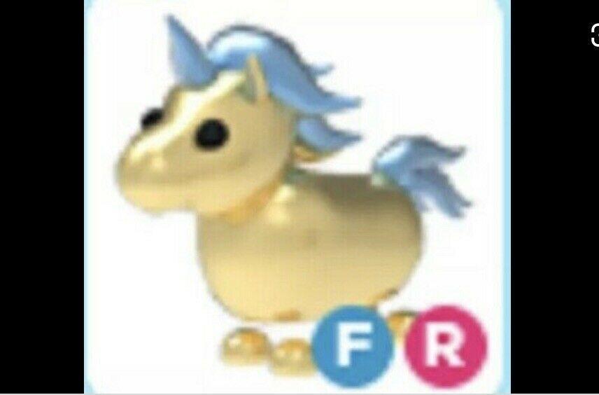 Fr Golden Unicorn Roblox Adopt Me Fly Ride Golden Unicorn Cheap Read Desc Pets Drawing Pets Adoption