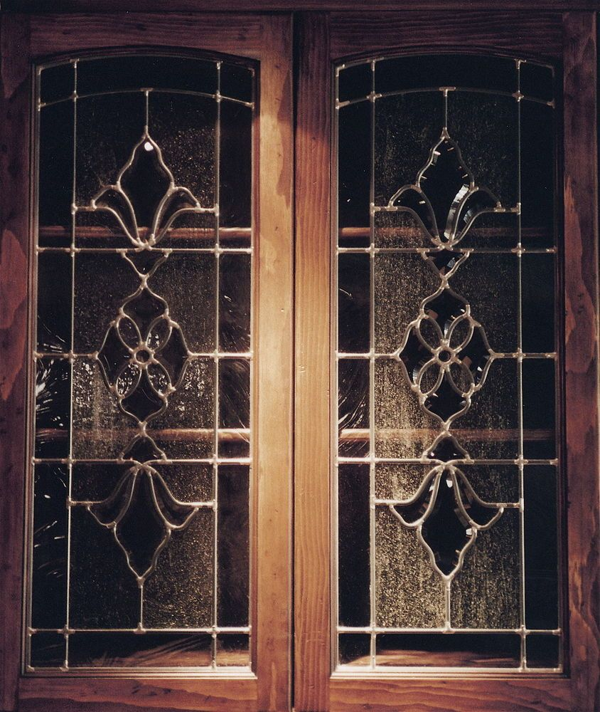 Beautiful bevel clusters leaded glass cabinet inserts by for Beveled glass kitchen cabinets