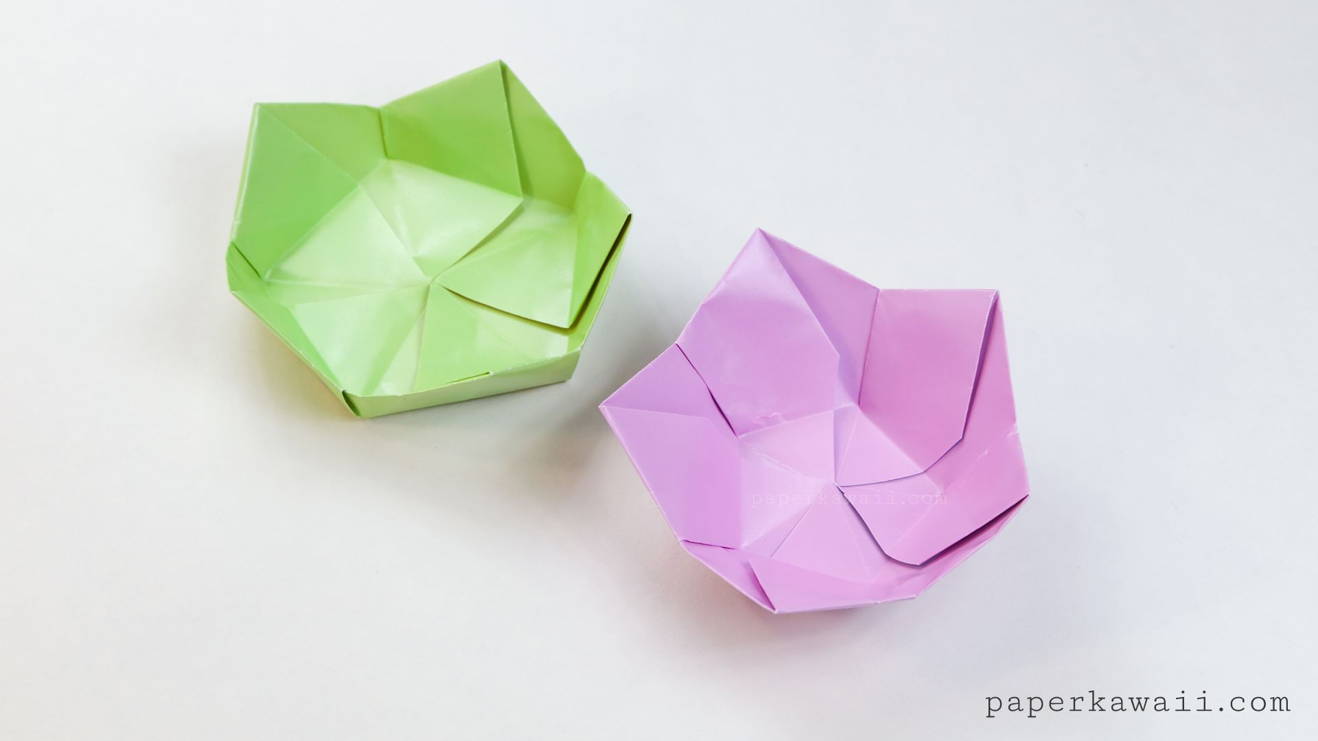 Origami flower bowl tutorial origami pinterest flower bowl video instructions for an origami flower bowl made from a pentagon by paper kawaii mightylinksfo