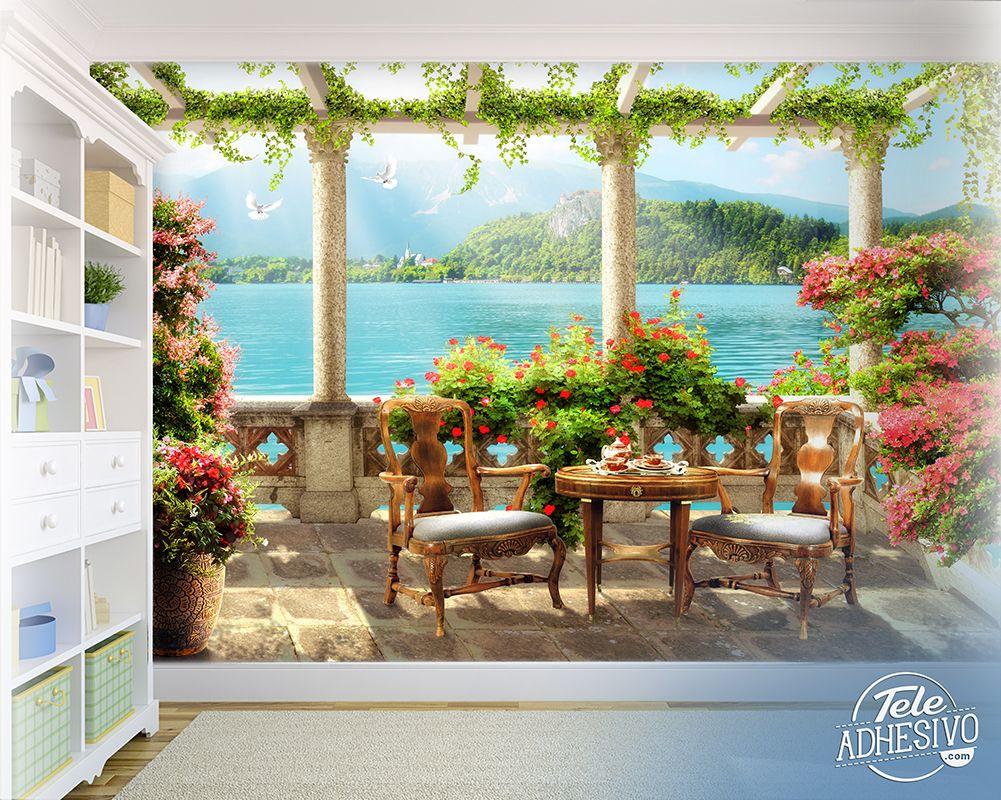 Fotomurales Terraza En El Lago Vinilo Decoracion Terraza Balcon Paisaje Pared Fotomural Teleadhesivo Idee Balcone Pannellatura E Recinzione
