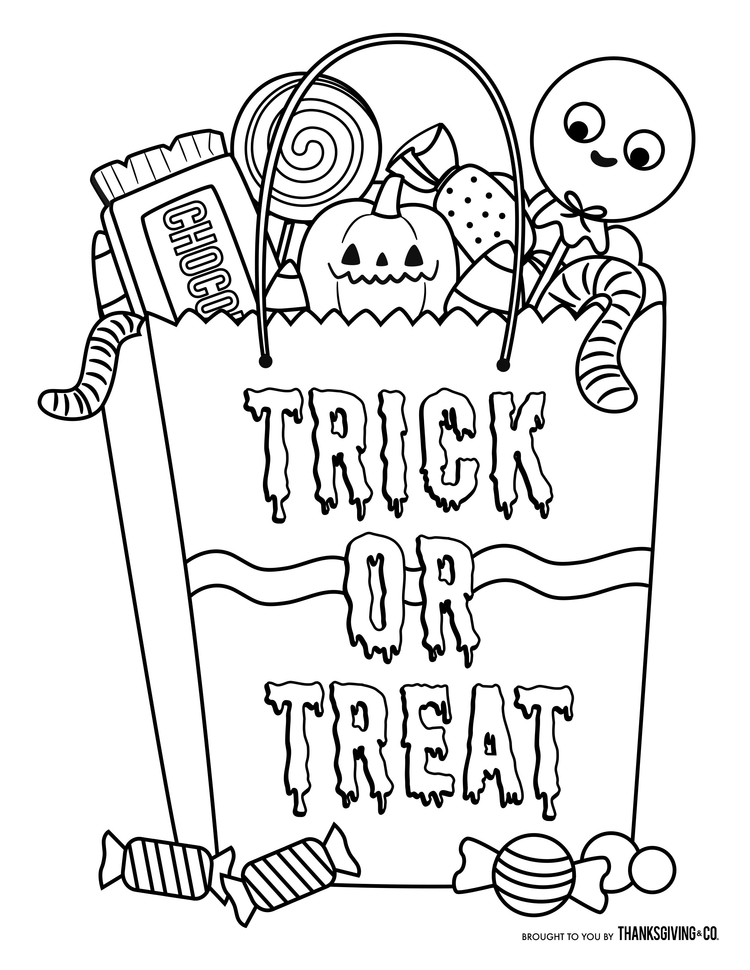 Image Result For Candy Halloween Coloring Pages In