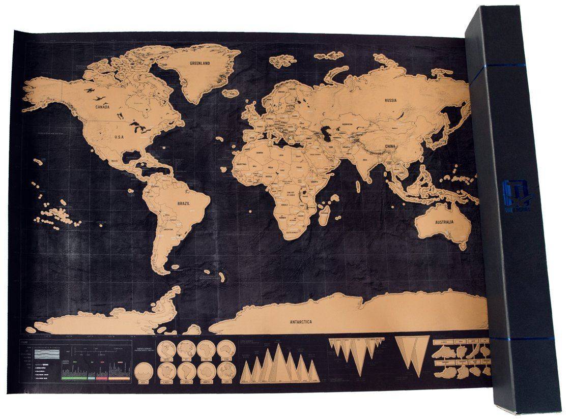 Scratch off map world deluxe personalized travel poster share scratch off map world deluxe personalized travel poster share your travel stories gumiabroncs Choice Image