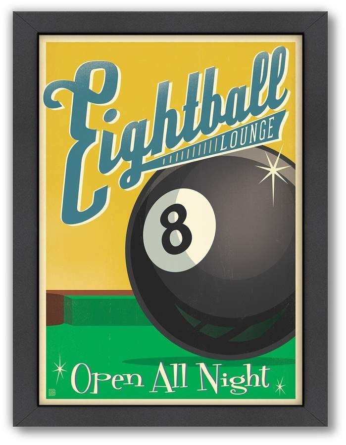 americanflat anderson design group ''eight ball'' framed wall art in