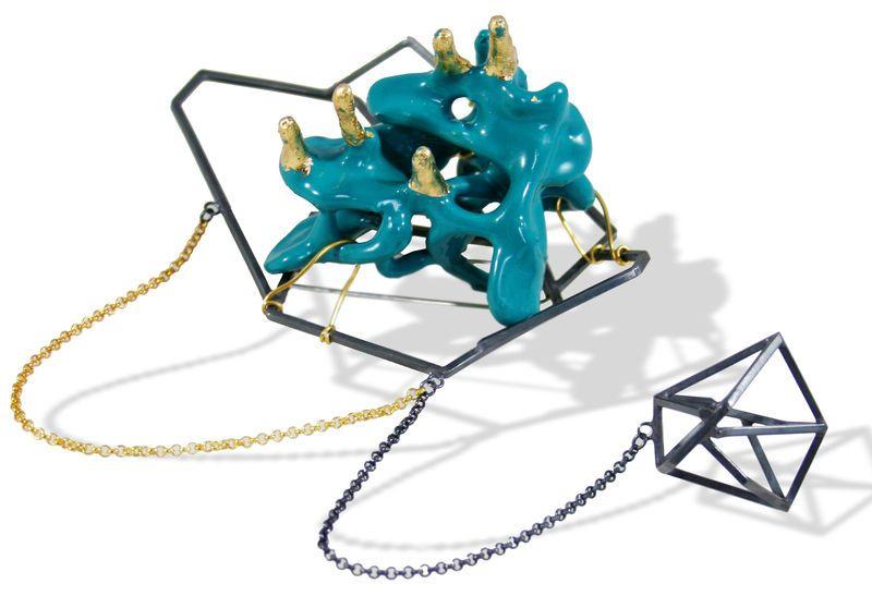 Chaos Brooch II - Karolina Bik Jewellery