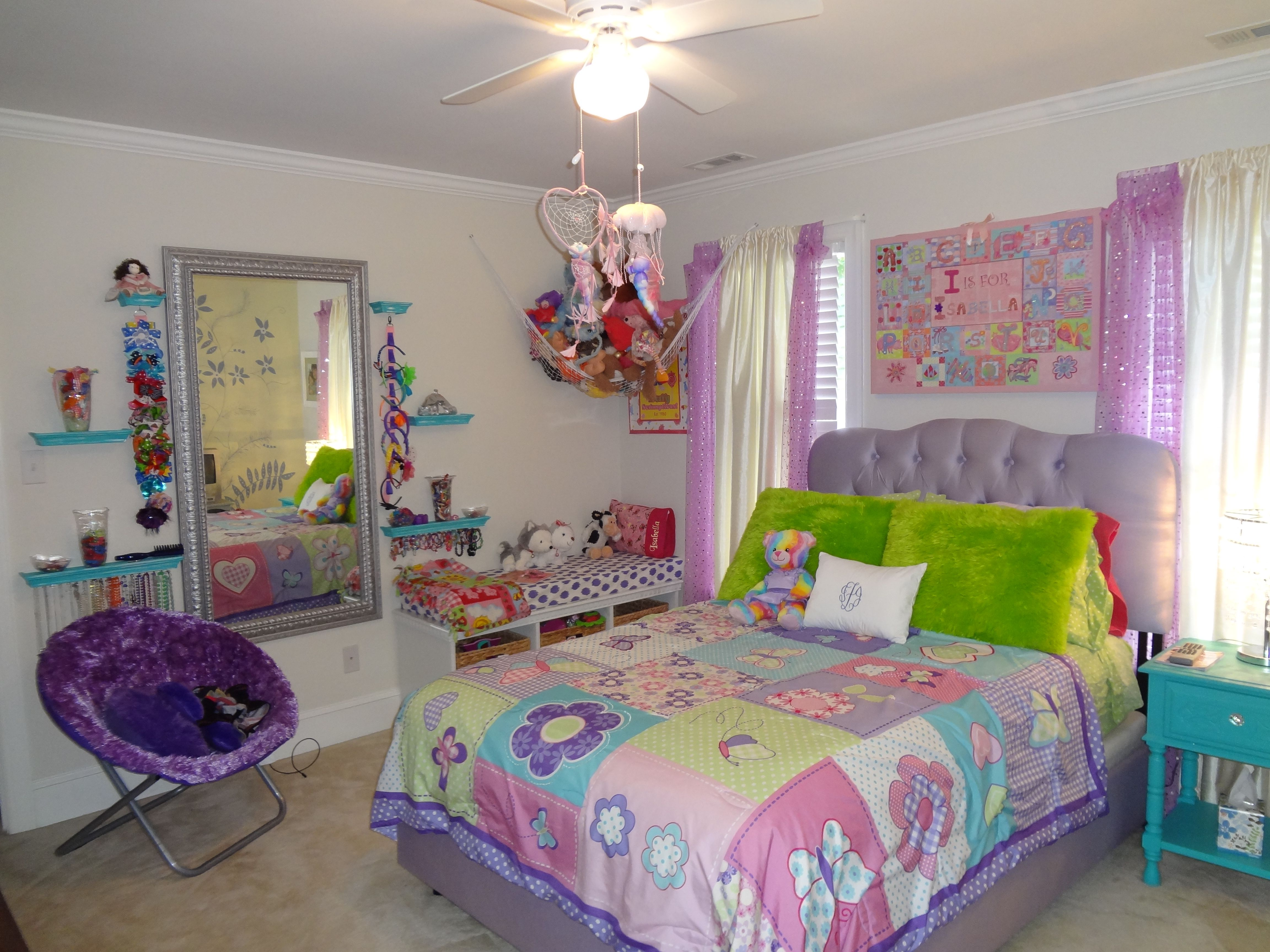 My daughters room makeover girls room purple pink blue