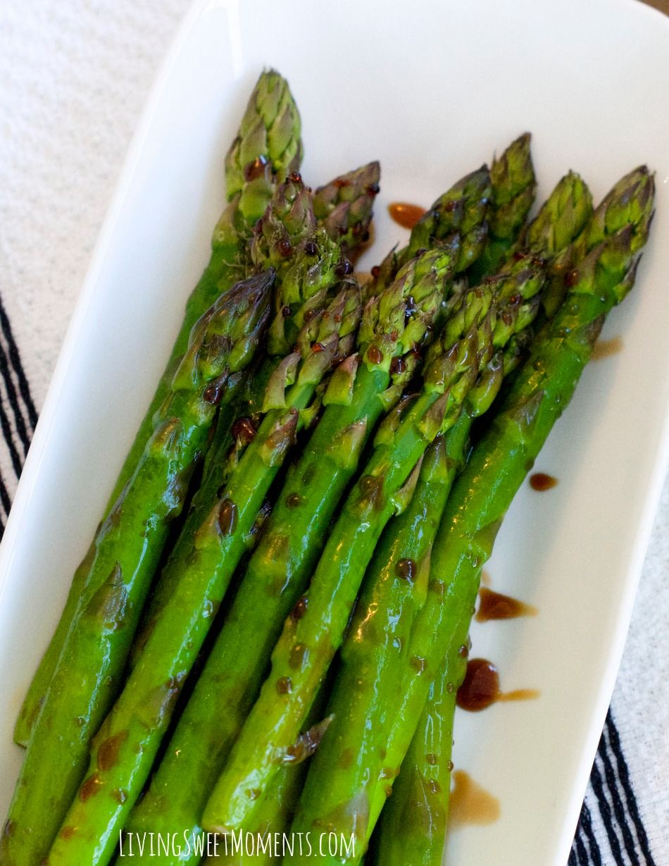 This delicious Lemon Balsamic Asparagus Recipe is perfect for a quick and healthy weeknight meal. It's tangy, sweet and very flavorful. Try it tonight!