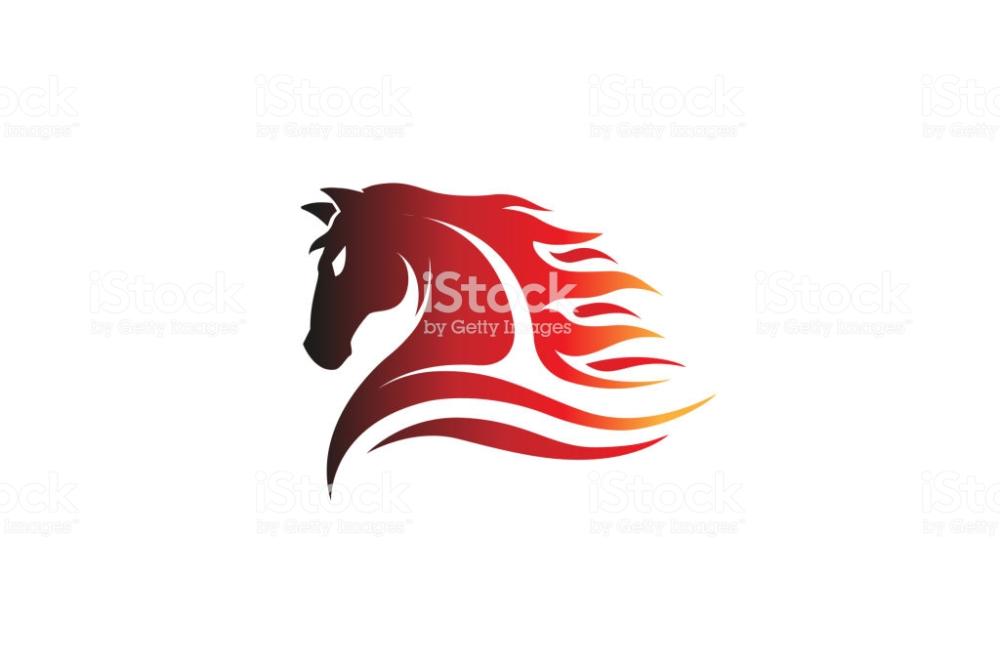 Horse Red Logo Design Illustration ロゴデザイン イラストレーション ベクトルアート