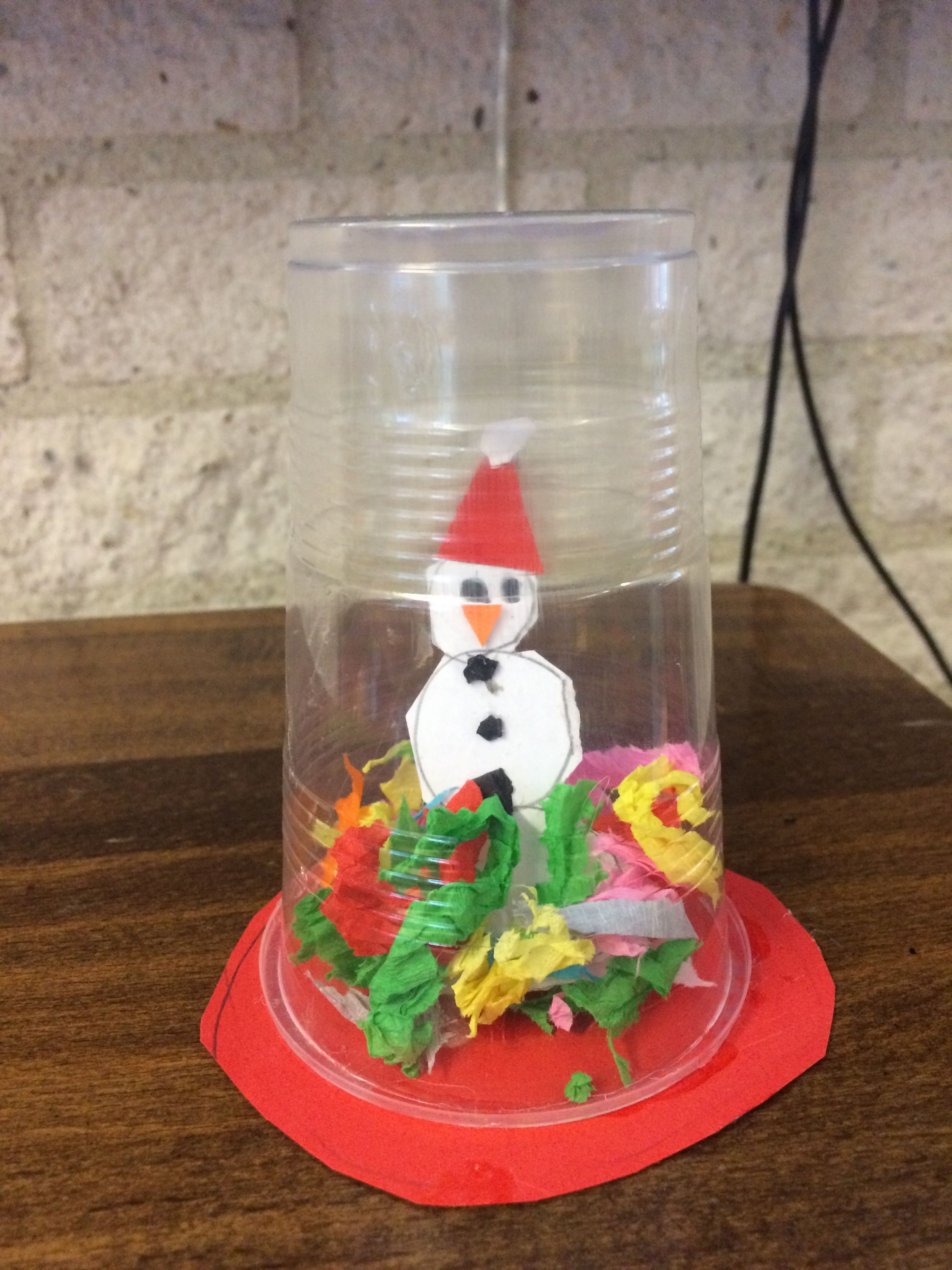 kerst knutselen middenbouw sneeuwbol kerst knutselen