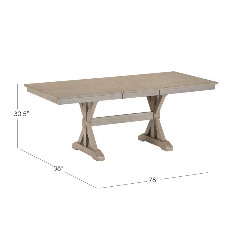 Rutledge Extendable Solid Wood Dining Table Dining Table Solid
