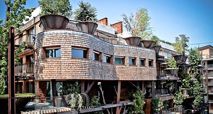 25 Verde, une maison-arbre écologique en plein cœur de Turin - maison ossature metallique avis