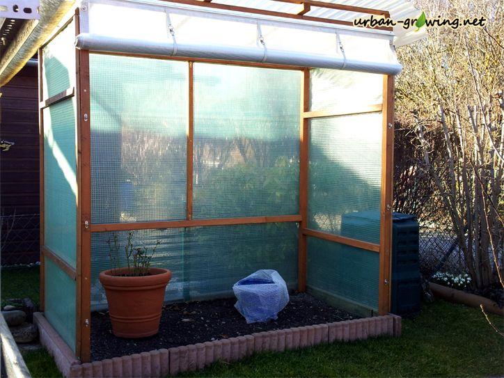 tomatenhaus mit rollo guter eigenbau garten pinterest tomaten haus schrebergarten und. Black Bedroom Furniture Sets. Home Design Ideas