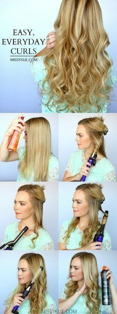 Alltagliche Frisuren Fur Welliges Haar Dauerwelle Frisurenlange Lockigehaar Gunluk Sac Modelleri Kendin Yap Sac Uzun Sac