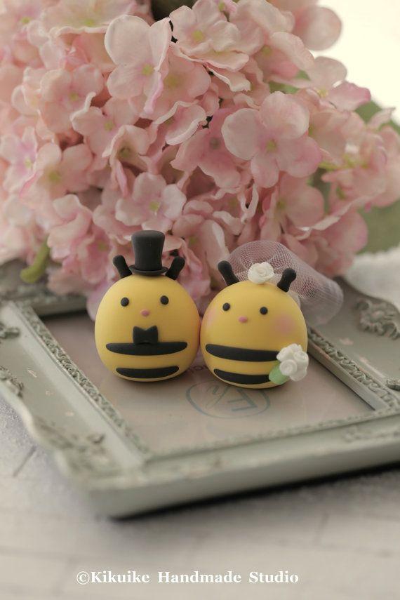 Bee Wedding Cake Toppers