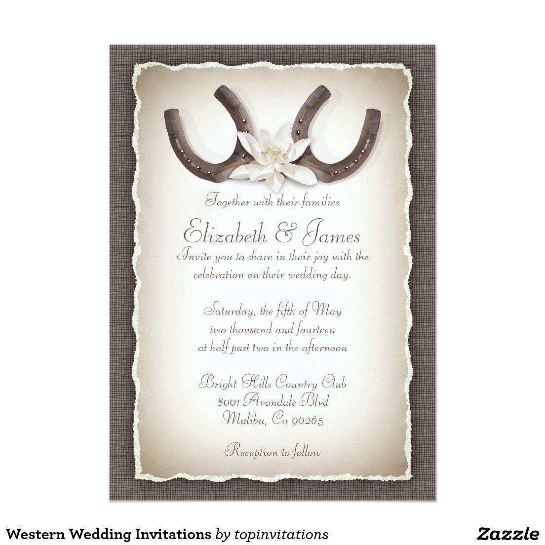 Western Wedding Invitations   Western invitations, Wedding and ...