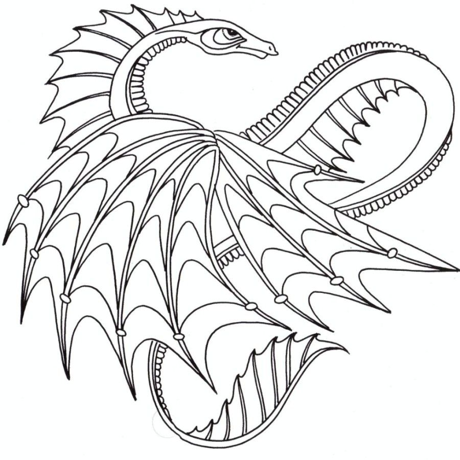 Coloring Pages] : dragon coloring pages for adults voteforverde ...