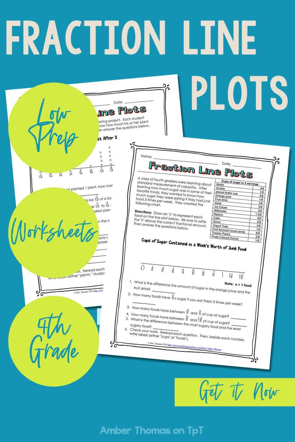Fraction Line Plot Worksheets Line Plot Worksheets Elementary Math Lessons Elementary Teaching Resources [ 1500 x 1000 Pixel ]