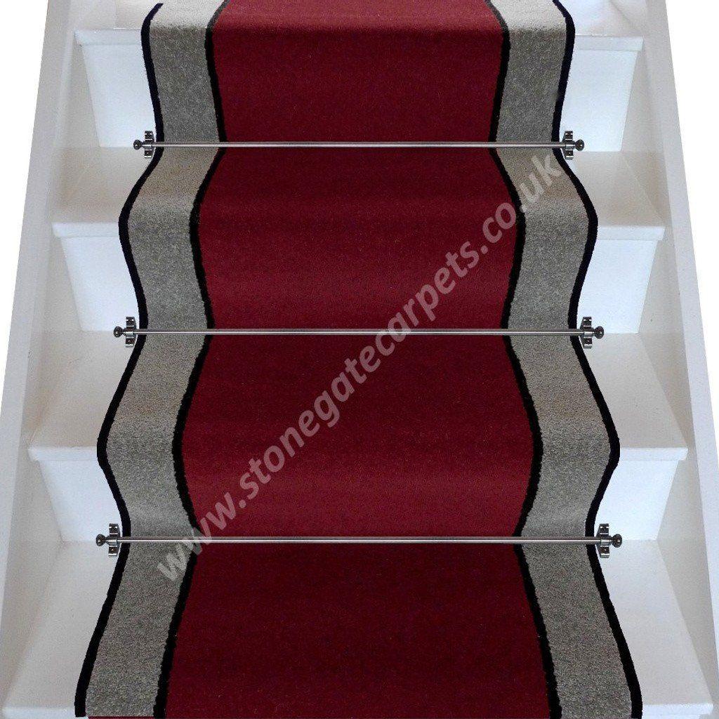 Best Brintons Carpets Bell Twist Manhattan Red Ebony Pewter 640 x 480