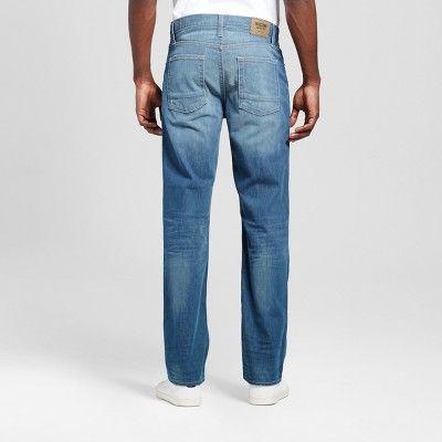 Men's Slim Straight Fit Jeans - Mossimo Supply Co. Medium Wash 33x32, Blue