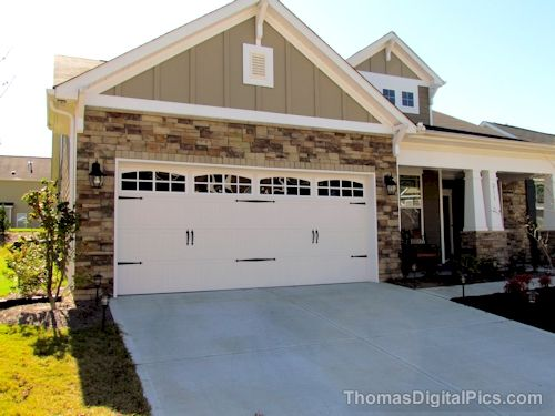 211 Ashton Glen Carriage Style Garage Doors New Home Construction House Exterior