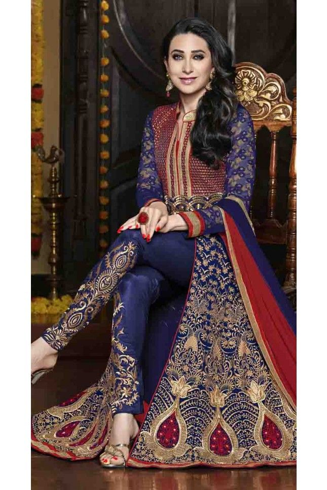Relishable Blue Georgette Anarkali Salwar Kameez