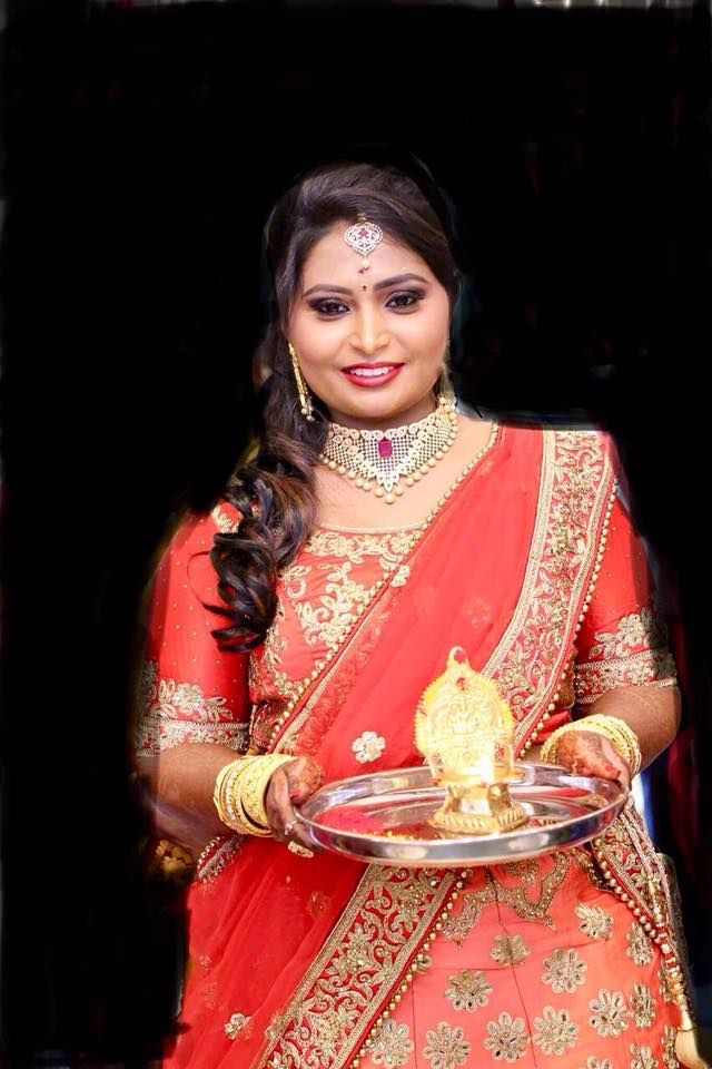 Preeti Looks Gorgeous For Her Reception Hair And Makeup By Swank