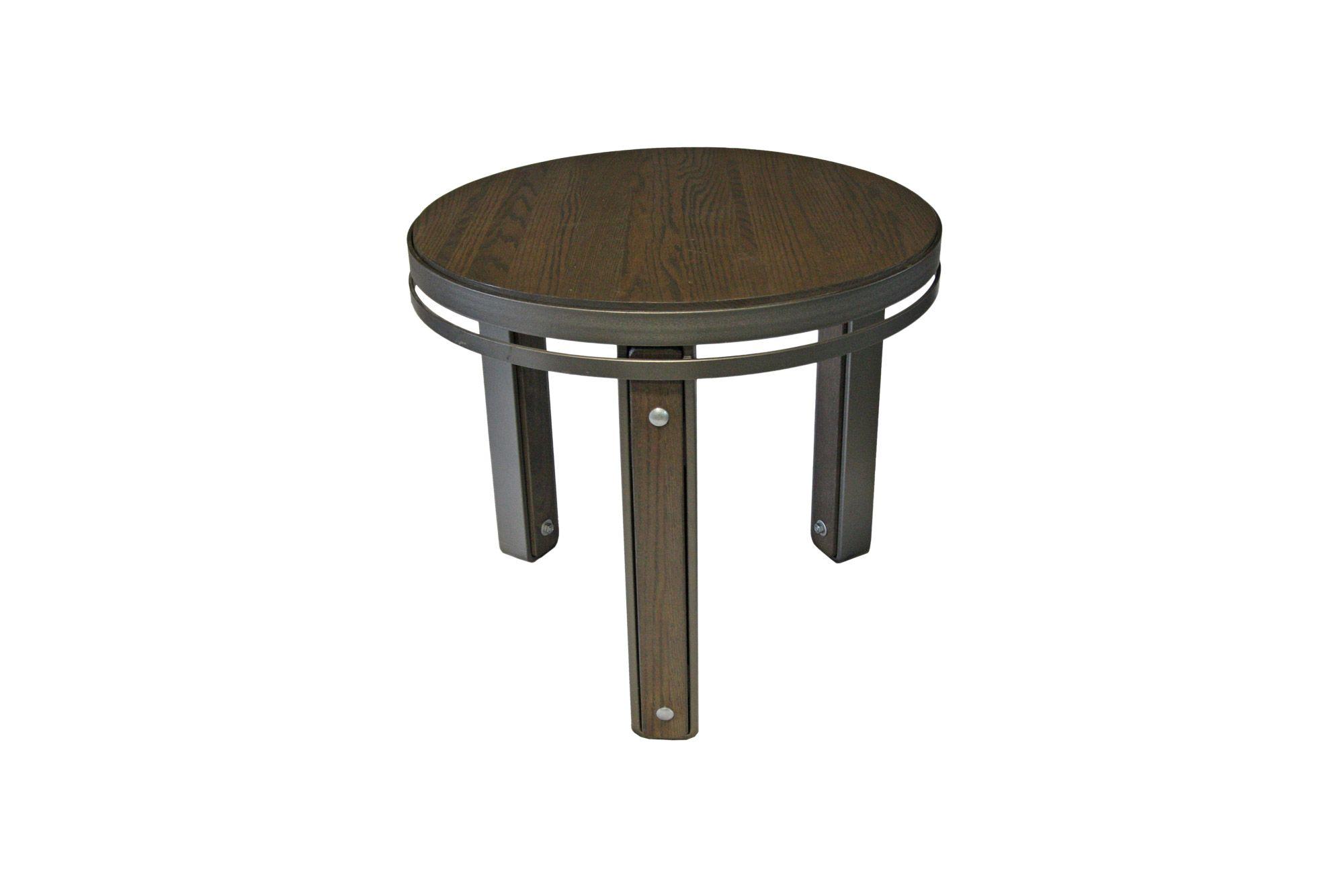 Table De Bout En Merisier Table Living Room Acier Steel  # Meuble Living Bois