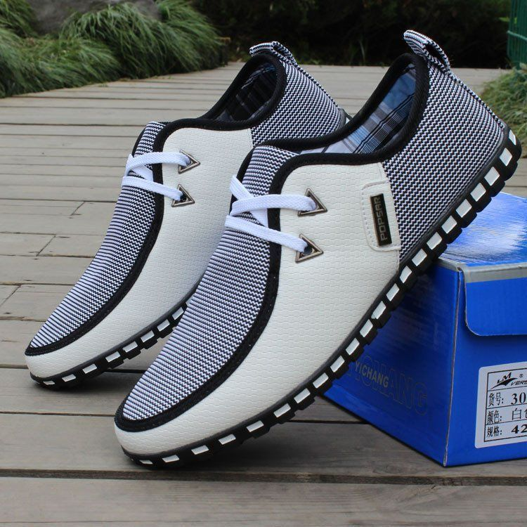 Striped Casual Flats | DEAL MAN | Chatas | Zapatos de moda