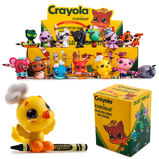 CRAYOLA CARVOLA COLORING CRITTER Blind Box Series By Crayola X Kidrobot