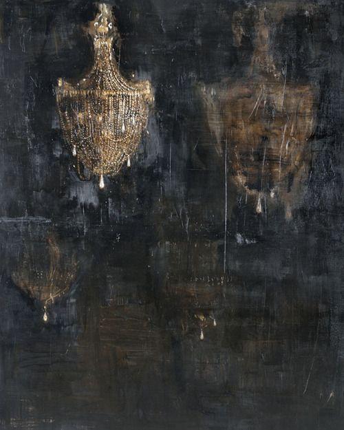 'Salon de Musique' (2011) by Italian artist Piero Pizzi Cannella (b.1955). Oil on canvas. via Marie Antoinette's Playhouse